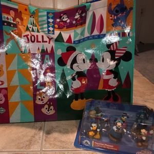 Mickey Mouse Holiday Bag & Christmas Carol  Set